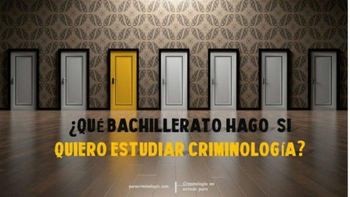 Qué Bachillerato Hago Si Quiero Estudiar Criminología